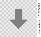 arrow vector icon eps 10.... | Shutterstock .eps vector #1013266708