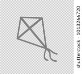 kite vector icon eps 10. simple ... | Shutterstock .eps vector #1013266720