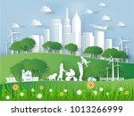 illustration vector of modern... | Shutterstock .eps vector #1013266999