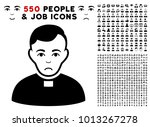sadly priest pictograph with... | Shutterstock .eps vector #1013267278