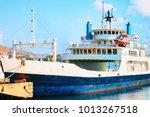 passenger ferry in the... | Shutterstock . vector #1013267518