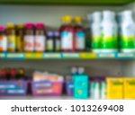 blurred drug store   Shutterstock . vector #1013269408