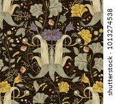 vector floral pattern ... | Shutterstock .eps vector #1013274538