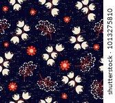 vector floral pattern ... | Shutterstock .eps vector #1013275810