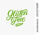gluten free hand written... | Shutterstock . vector #1013276089