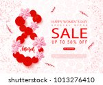 8 march   happy women s day... | Shutterstock .eps vector #1013276410