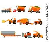 flat vector set of agricultural ... | Shutterstock .eps vector #1013277664