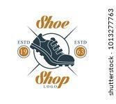 shoe shop logo  estd 1963 ... | Shutterstock .eps vector #1013277763