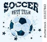 vector grunge soccer ball | Shutterstock .eps vector #101327863
