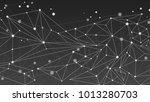 monochrome geometric abstract... | Shutterstock . vector #1013280703