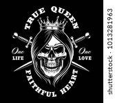 queen skull  vector... | Shutterstock .eps vector #1013281963