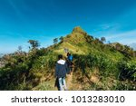 group of tourist on the way to...   Shutterstock . vector #1013283010