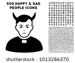 sad devil priest icon with 550... | Shutterstock .eps vector #1013286370