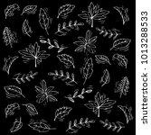 leafs pattern background   Shutterstock .eps vector #1013288533