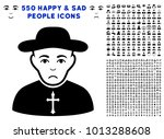 sadly christian priest icon...   Shutterstock .eps vector #1013288608