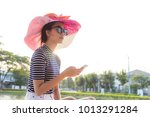portrait charming beautiful... | Shutterstock . vector #1013291284