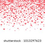 hearts confetti on white... | Shutterstock .eps vector #1013297623