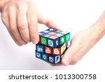 kazan  russia   january 27 ... | Shutterstock . vector #1013300758