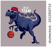 basketball player dinosaur...   Shutterstock .eps vector #1013303713