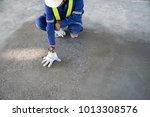 a construction worker check...   Shutterstock . vector #1013308576