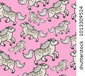 pony seamless pattern   Shutterstock .eps vector #1013309524