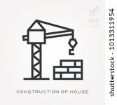 line icon construction of house | Shutterstock .eps vector #1013311954