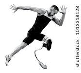 start runner disabled runner... | Shutterstock .eps vector #1013318128
