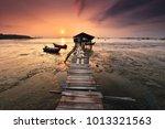 beautiful sunrise view at... | Shutterstock . vector #1013321563