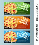 pizza discount voucher templates | Shutterstock .eps vector #1013321650