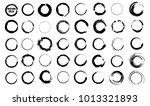 set of vector black circles.... | Shutterstock .eps vector #1013321893