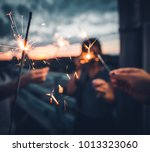 sparklers with other friends   Shutterstock . vector #1013323060