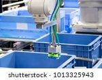 industry 4.0 robot concept .the ... | Shutterstock . vector #1013325943