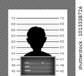 prisoner silhouette front with... | Shutterstock .eps vector #1013338726