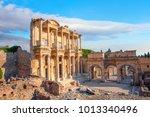 celsus library in ephesus ... | Shutterstock . vector #1013340496