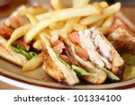 Delicious Club Sandwich With...