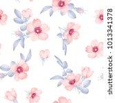 dog rose blooms. wild rose... | Shutterstock .eps vector #1013341378
