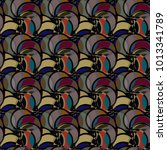 abstract color seamless pattern ... | Shutterstock .eps vector #1013341789
