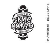 skateboarding t shirt design.... | Shutterstock .eps vector #1013342446