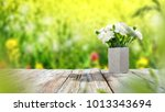 desk of free space for your... | Shutterstock . vector #1013343694