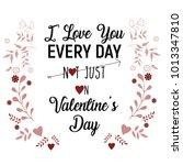 happy valentine's day lettering ... | Shutterstock .eps vector #1013347810