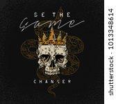 be the game changer slogan.... | Shutterstock .eps vector #1013348614