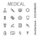 medical related vector icon set....
