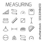 measuirng related vector icon... | Shutterstock .eps vector #1013348653