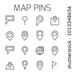 map pins related vector icon...