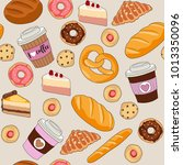 coffee and bakery   seamless... | Shutterstock .eps vector #1013350096