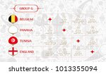 match schedule group g  vector... | Shutterstock .eps vector #1013355094