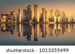 the skyline of west bay and... | Shutterstock . vector #1013355499
