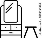 dressing table icon vector art... | Shutterstock .eps vector #1013356324
