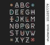 vector display alphabet.... | Shutterstock .eps vector #1013357779