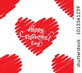 red hearts seamless pattern.... | Shutterstock .eps vector #1013361259